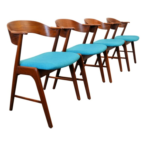 Vintage Teak Dining Chairs by Kai Kristiansen - side