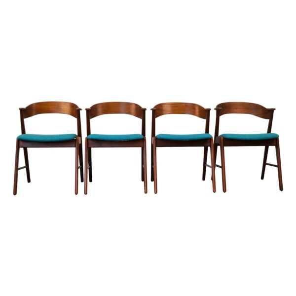 Vintage Teak Dining Chairs by Kai Kristiansen - front