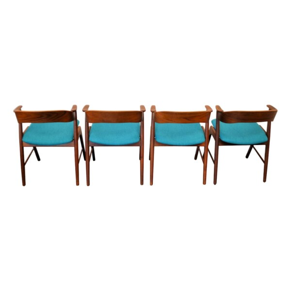 Vintage Teak Dining Chairs by Kai Kristiansen - back