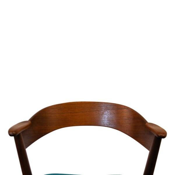 Vintage Teak Dining Chairs by Kai Kristiansen - backrest