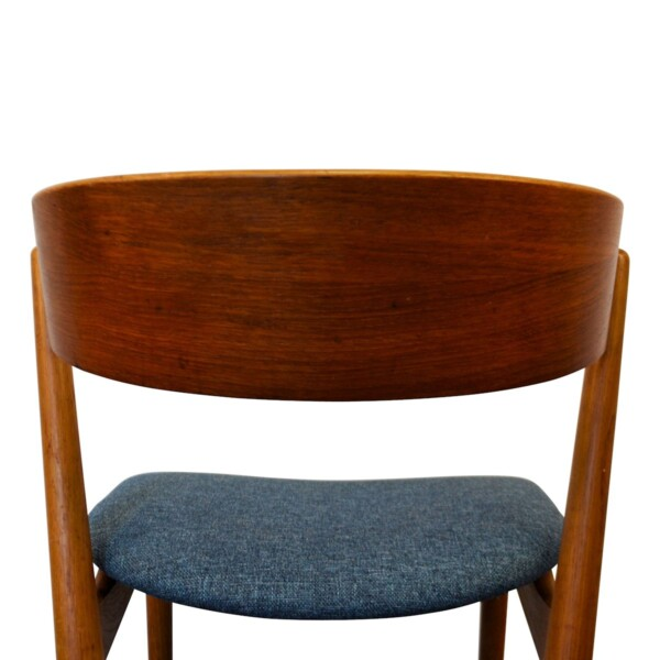 Vintage Teak Helge Sibast Model no. 7 Dining Chairs - backrest
