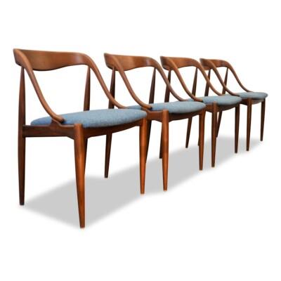 Johannes Andersen teak dining chairs (4)