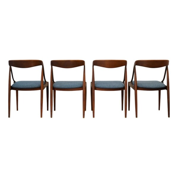 Vintage Teak Dining Chairs by Johannes Andersen - back