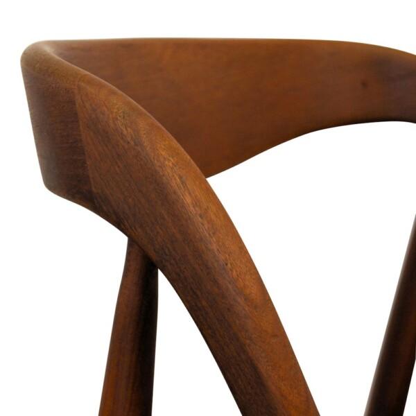 Vintage Johannes Andersen teak eetkamerstoelen - detail