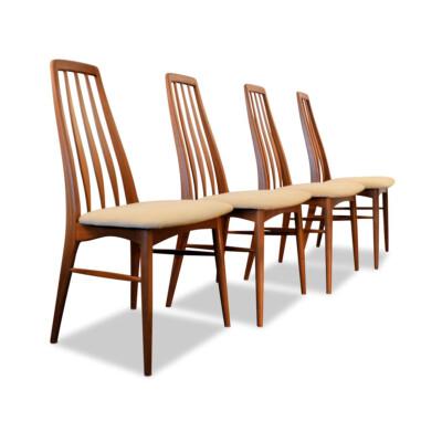 """Vintage Niels Koefoed """"Eva"""" teak dining chairs"""