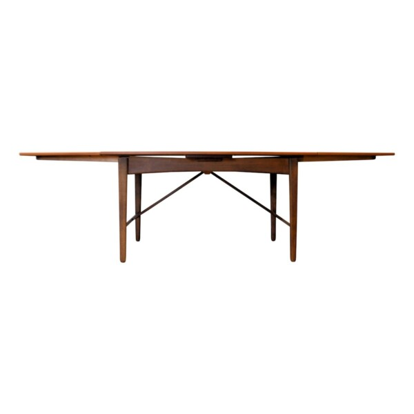 Vintage Svend Aage Madsen teak dining table - extended
