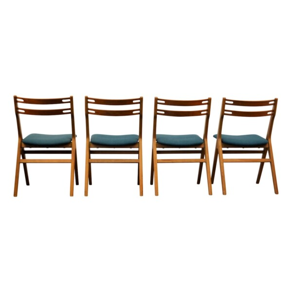 Vintage Teak/Oak Dining Chairs by Edmund Jørgensen - back
