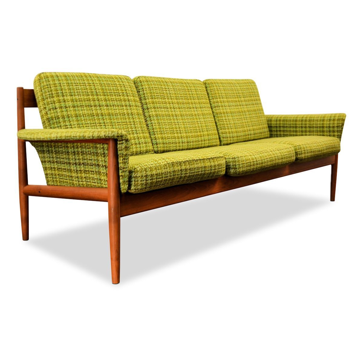 Retro Bank Deens Design.Vintage Three Seater Sofa By Grete Jalk Vintage Vibes