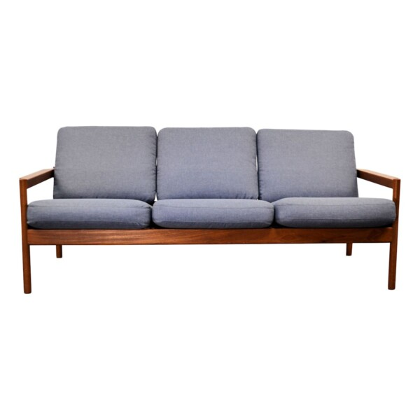 Vintage Three Seater Sofa by Kai Kristiansen - front