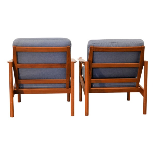Vintage Easy Chairs by Kai Kristiansen - back