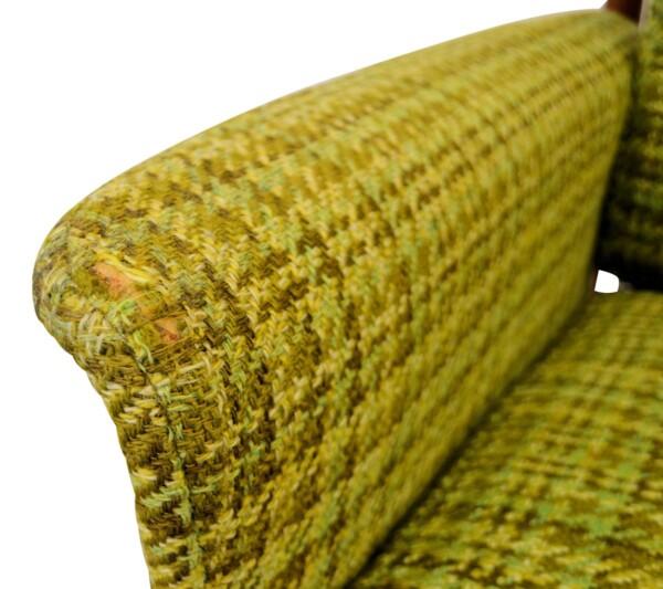 Vintage Grete Jalk Deens design teak fauteuil (detail)
