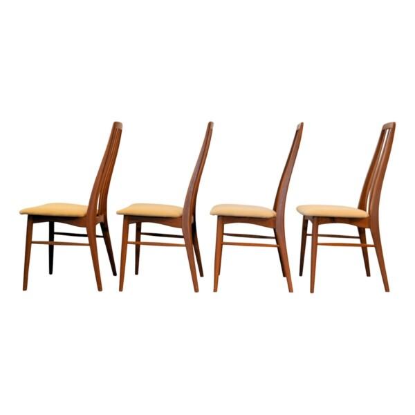 """Vintage Niels Koefoed """"Eva"""" teak dining chairs -side"""