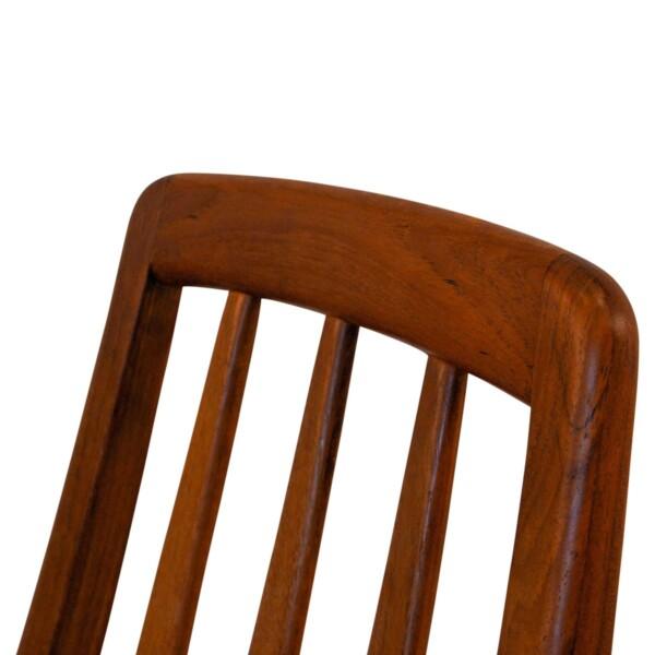 """Vintage Niels Koefoed """"Eva"""" teak dining chairs -detail"""