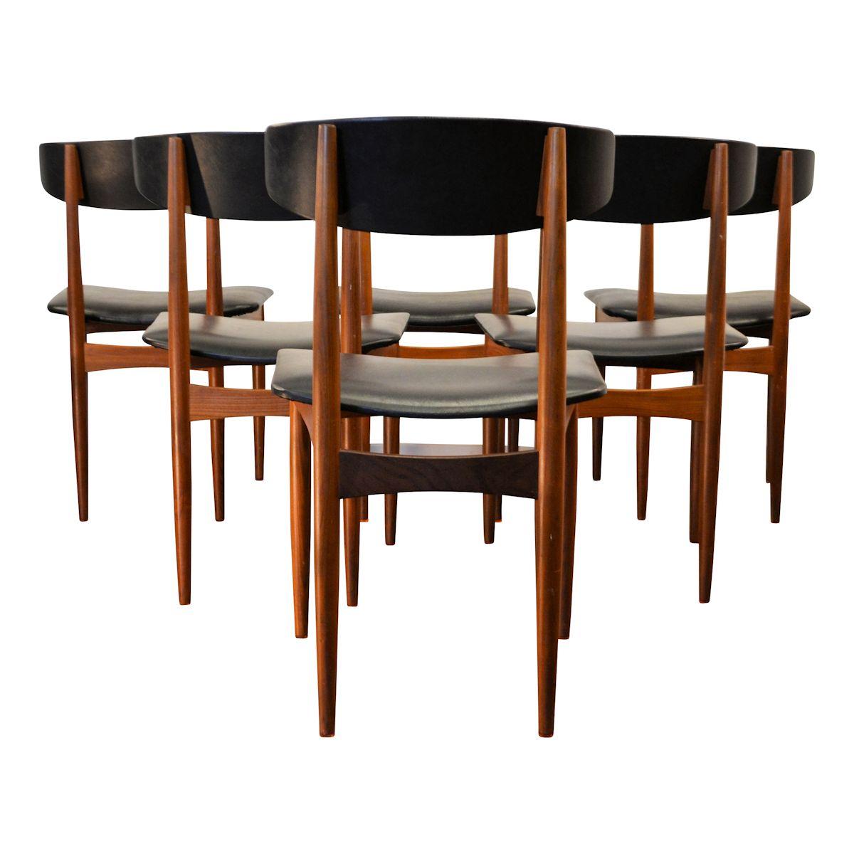 Vintage deens design teak eetkamerstoelen 6 vintage vibes for Eetkamerstoelen deens design