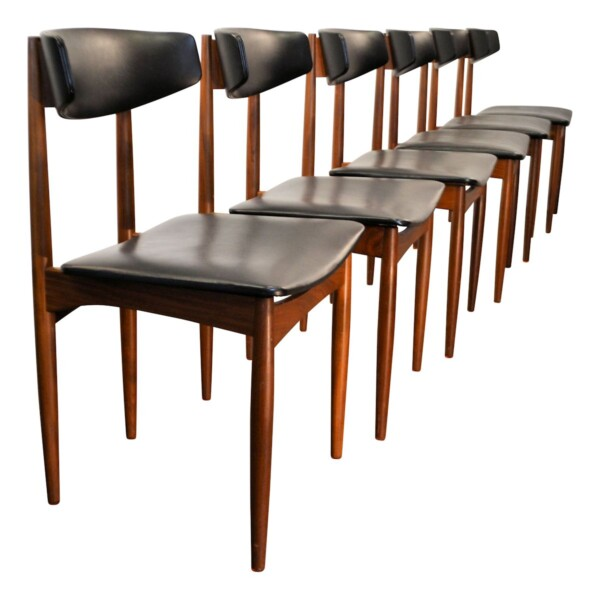 Vintage Danish Teak Dining Chairs - side