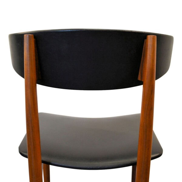 Vintage Danish Teak Dining Chairs - back