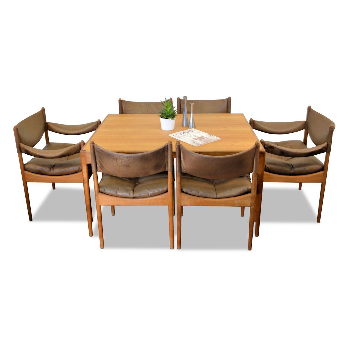 Vintage Dining Set Designed by Kristian Vedel