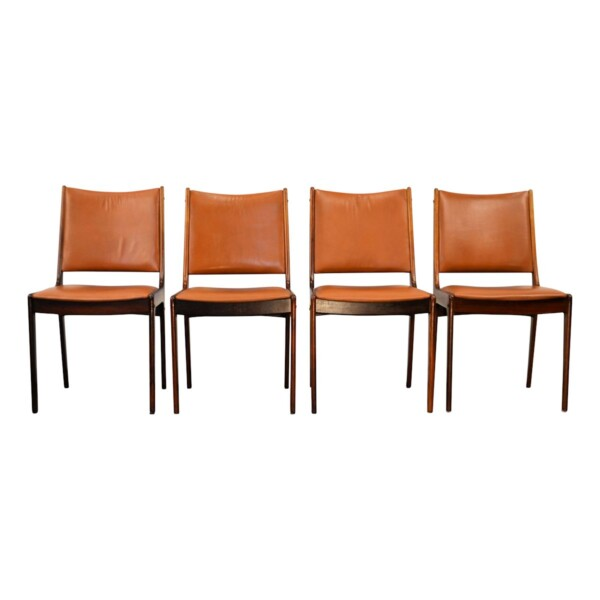 Vintage Rosewood Dining Chairs by Johannes Andersen - front