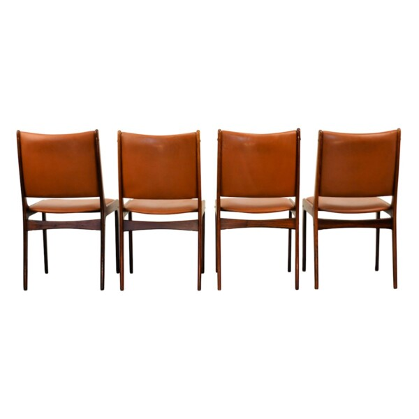 Vintage Rosewood Dining Chairs by Johannes Andersen - back