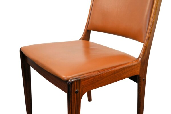 Vintage Rosewood Dining Chairs by Johannes Andersen - detail