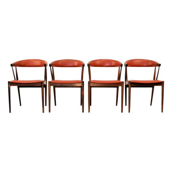 Vintage Dining Chairs by Johannes Andersen - front