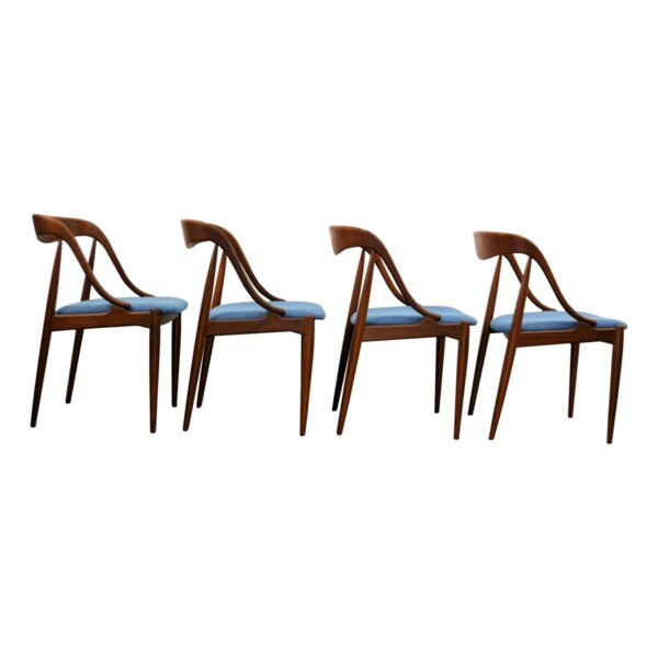 Vintage Teak Dining Chairs by Johannes Andersen - side