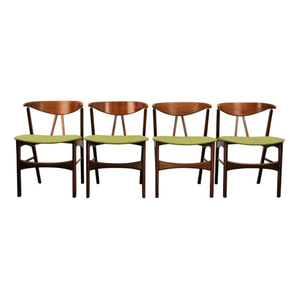Vintage Danish Teak/Oak Dining Chairs - front