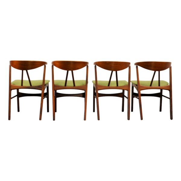 Vintage Danish Teak/Oak Dining Chairs - back