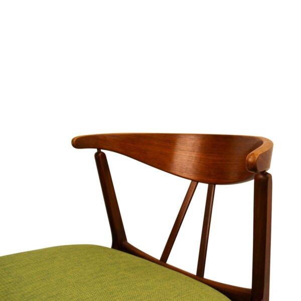 Vintage Danish Teak/Oak Dining Chairs - detail backrest