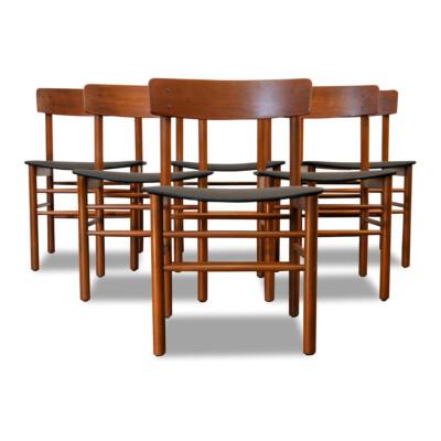 Vintage Børge Mogensen teak stoelen (6)