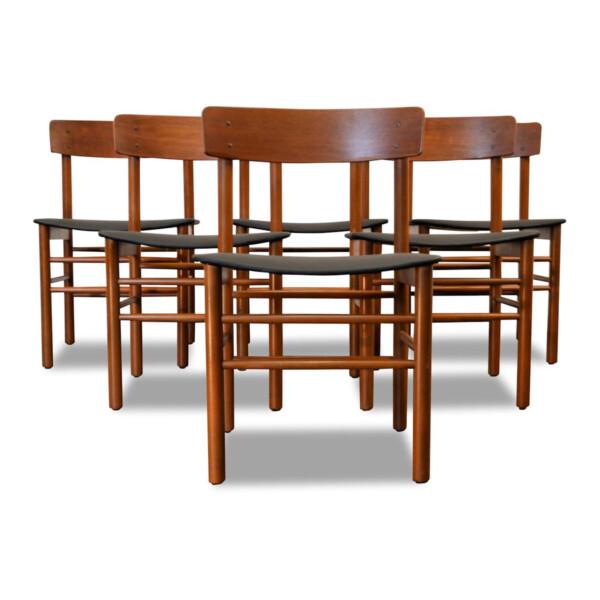 Vintage Børge Mogensen Dining Chairs
