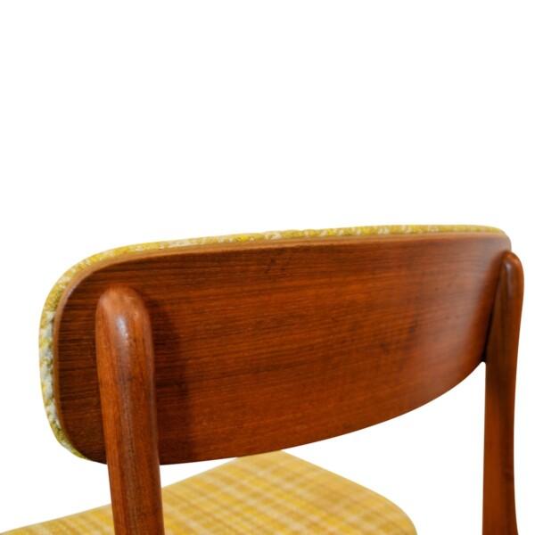Vintage Deense stijl teak stoel (detail)