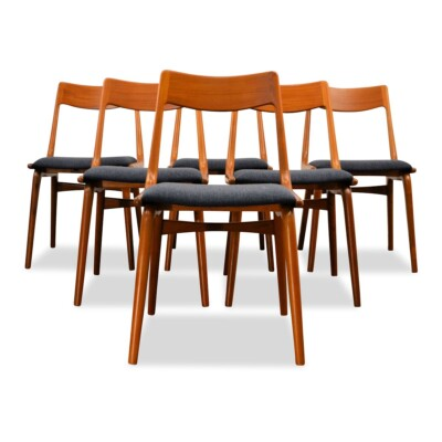 "Vintage Alfred Christensen ""Boomerang"" stoelen"