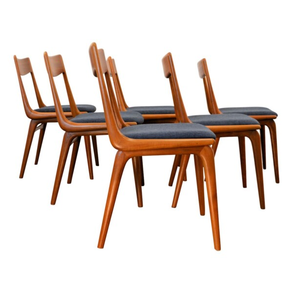 Vintage Alfred Christensen model #370 Boomerang Chairs - side
