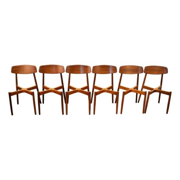 Vintage Harry Østergaard teak stoelen (detail)