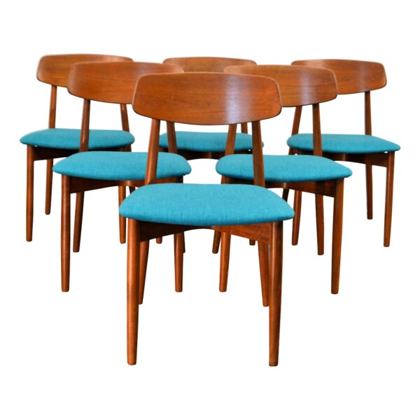 Vintage Harry Østergaard teak stoelen