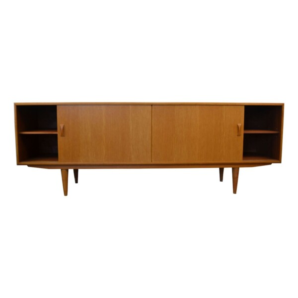 Vintage Oak Clausen & Son Sideboard - open