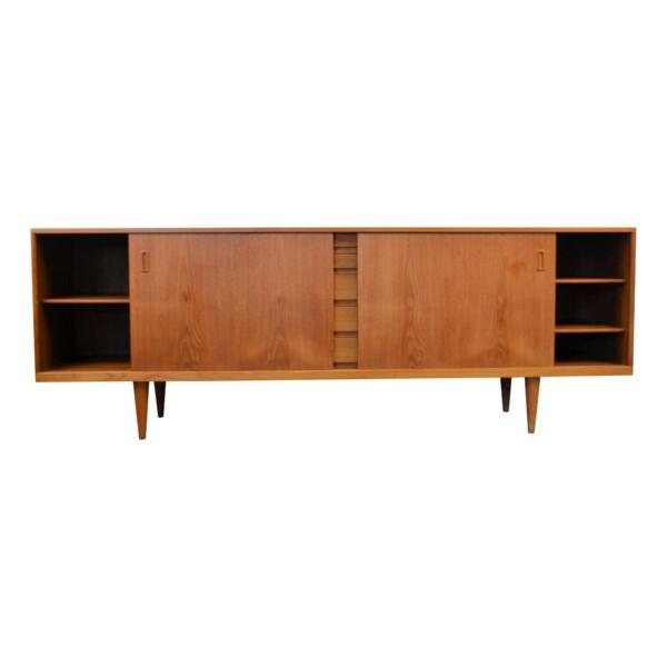 Vintage Bramin Sideboard by H.W. Klein - open
