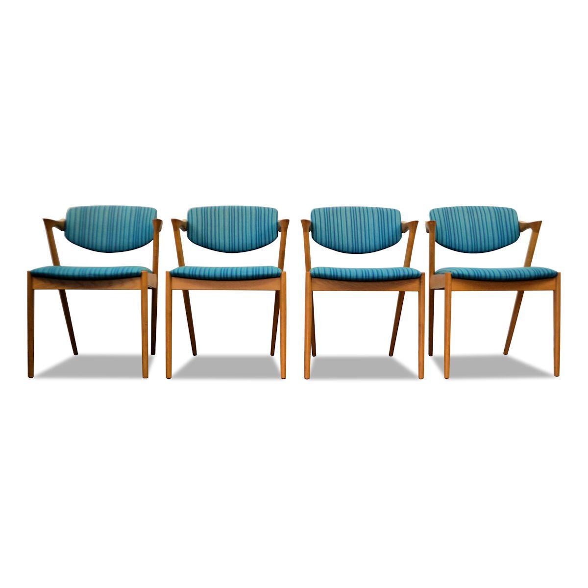 Vintage Kai Kristiansen Model #42 Dining Chairs