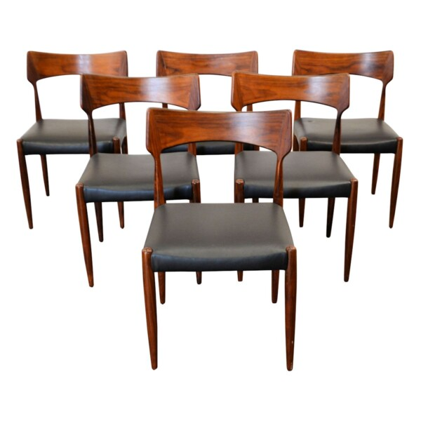 Vintage Bernhard Pedersen & Son Dining Chairs - front