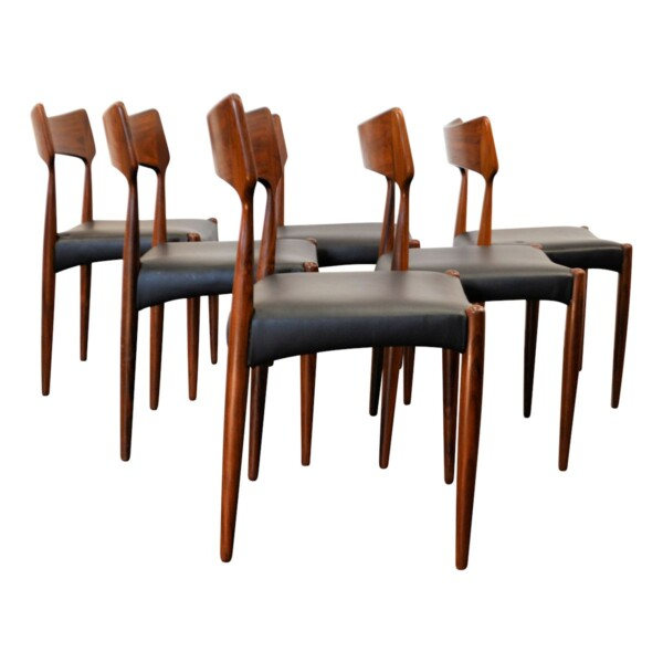 Vintage Bernhard Pedersen & Son Dining Chairs - side