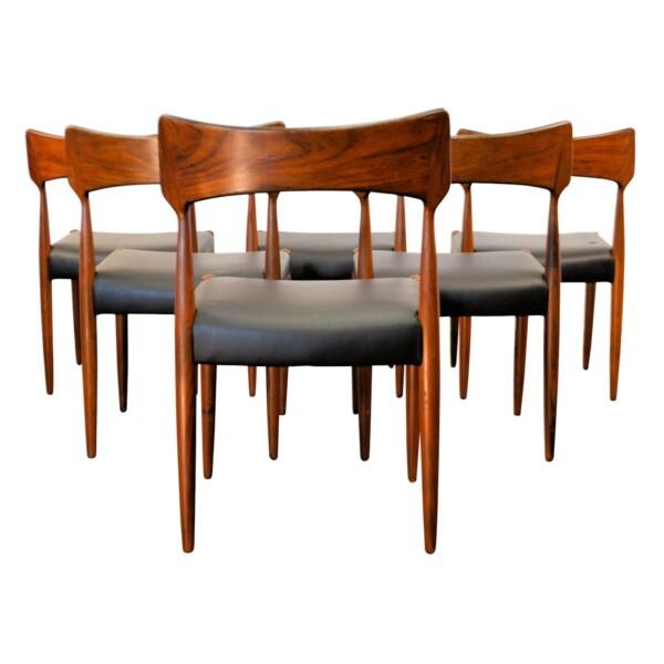 Vintage Bernhard Pedersen & Son Dining Chairs - back