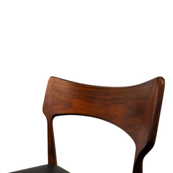 Vintage Bernhard Pedersen & Son rosewood chair (detail)