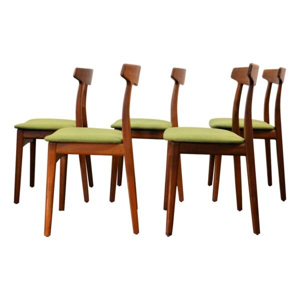 Vintage Teak Henning Kjaernulf Dining Chairs - side