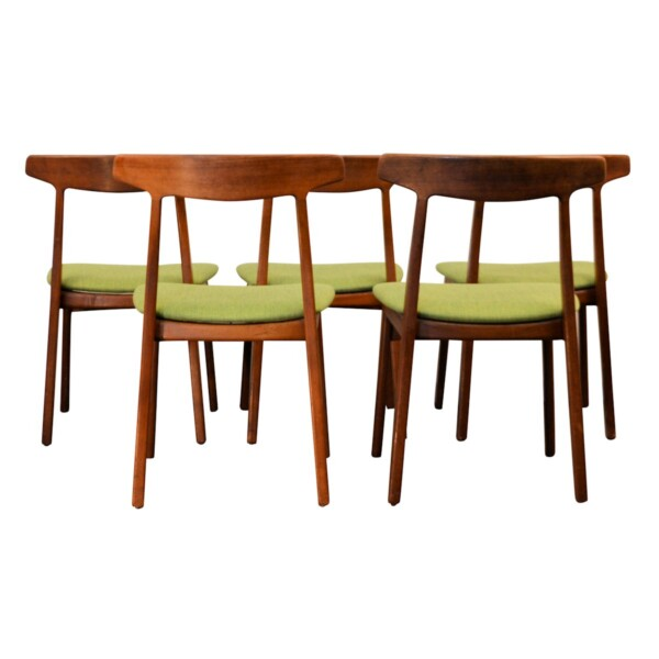 Vintage Teak Henning Kjaernulf Dining Chairs - back