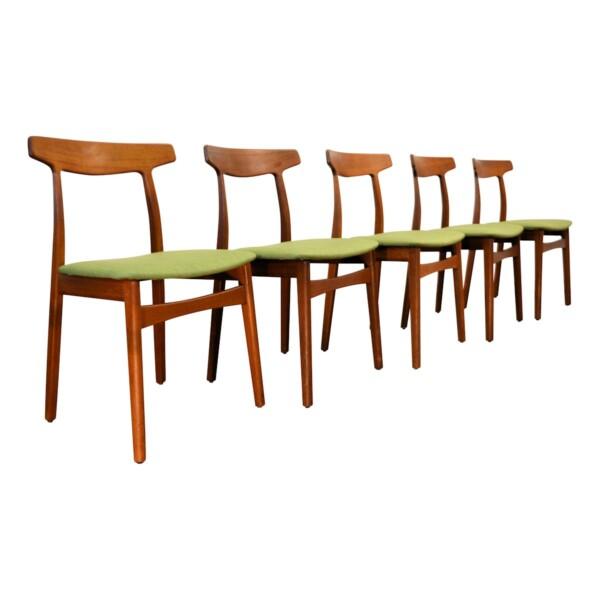 Vintage Teak Henning Kjaernulf Dining Chairs