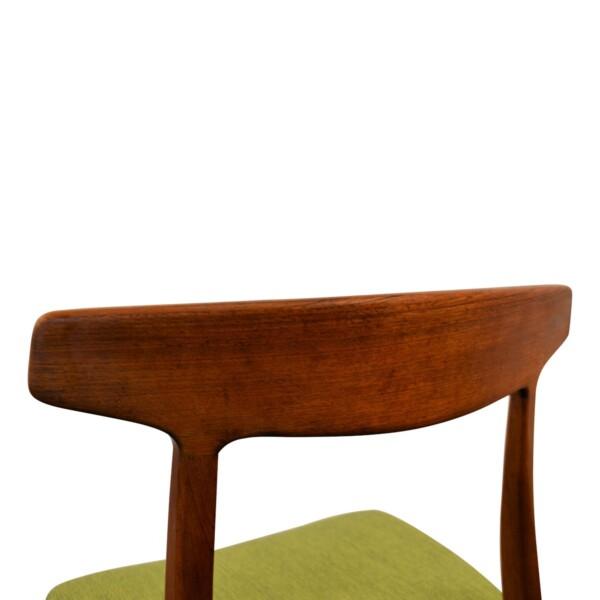 Vintage Henning Kjaernulf teak eetkamerstoel (detail)