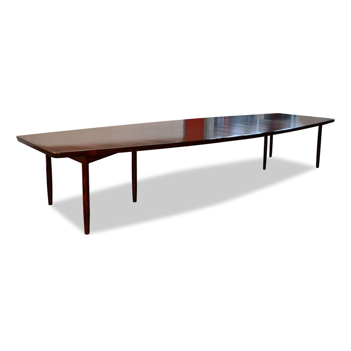 Vintage Rosewood Dining/Conference Table by Arne Vodder