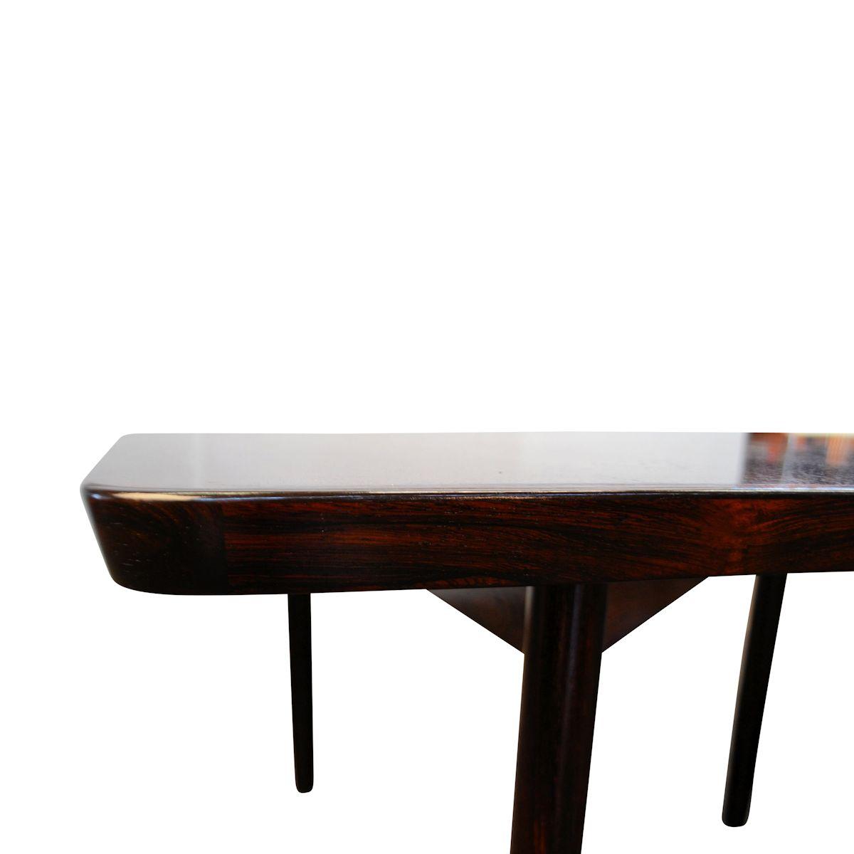 Vintage Rosewood Dining Conference Table By Arne Vodder