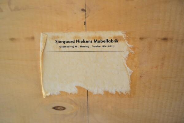Vintage Storgaard Nielsens teak secretaire (sticker)